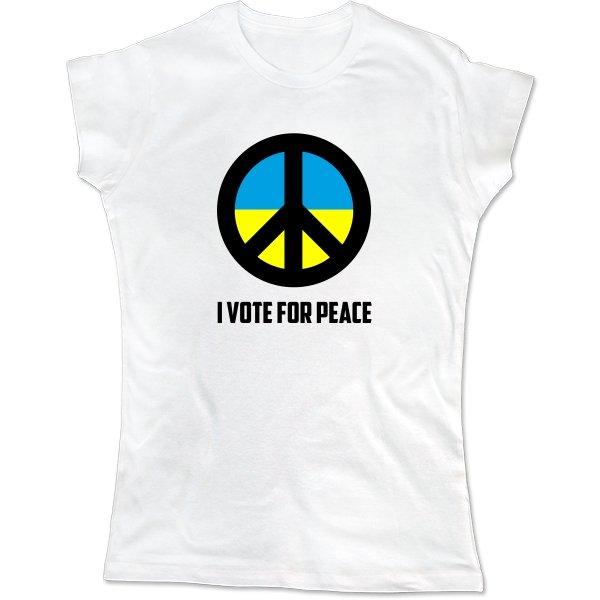 Женская футболка Голосую за Мир