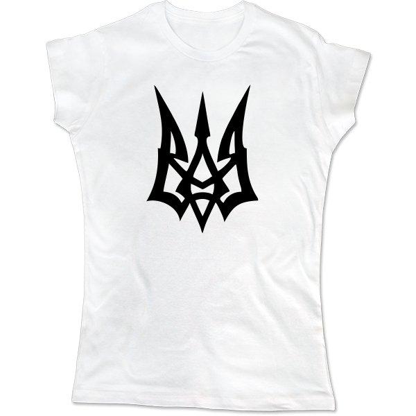 Женская футболка Молодежный Герб Украины
