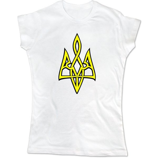 Женская футболка Трезубец 3D