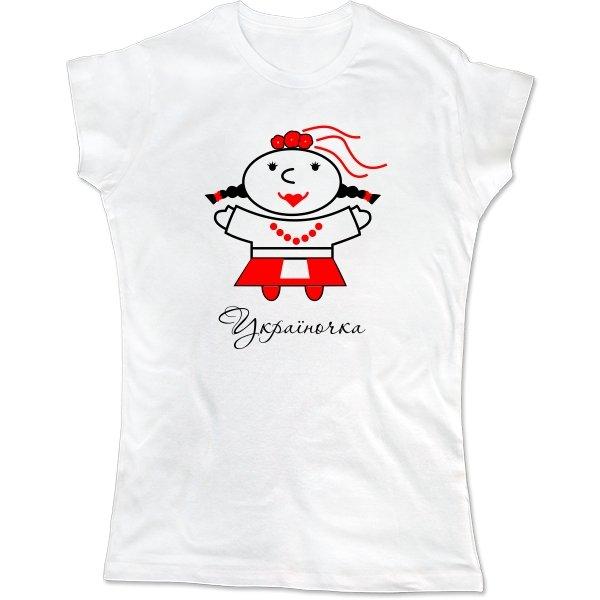 Женская футболка Україночка