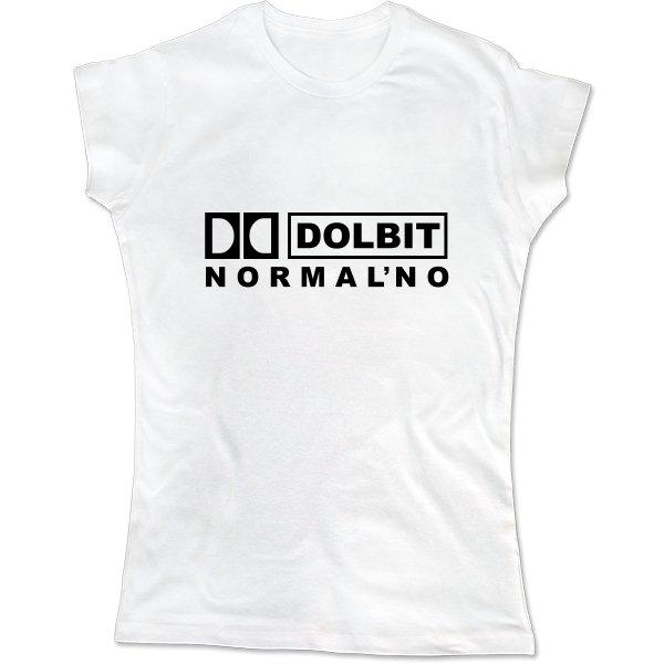 Женская футболка Долбит Нормально