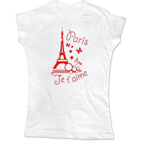 Женская футболка Люблю Париж