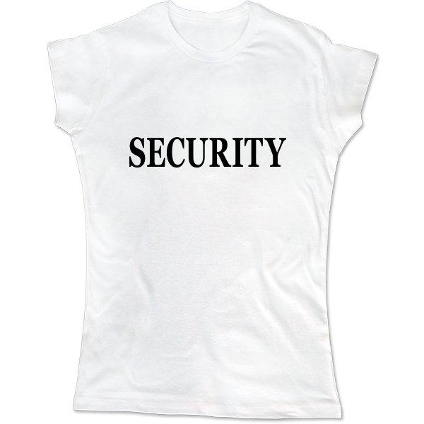 Женская футболка Security