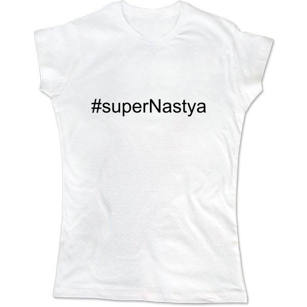 Женская футболка Super Настя