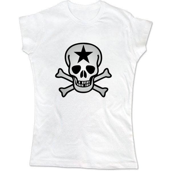 Женская футболка Череп со звездой