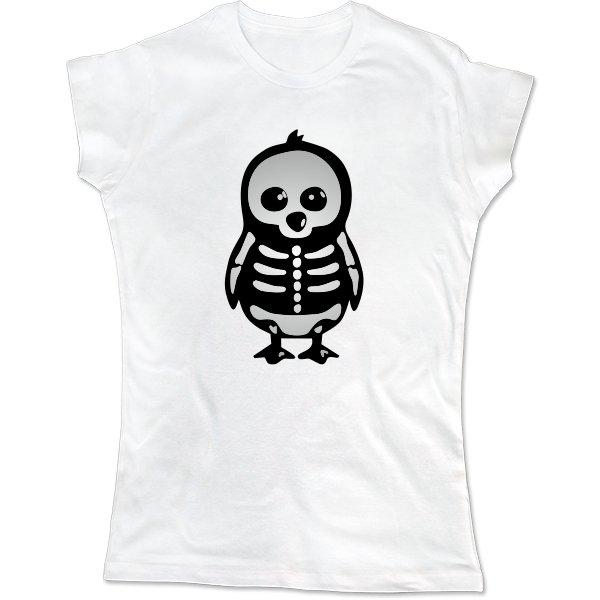 Женская футболка Скелет Пингвина