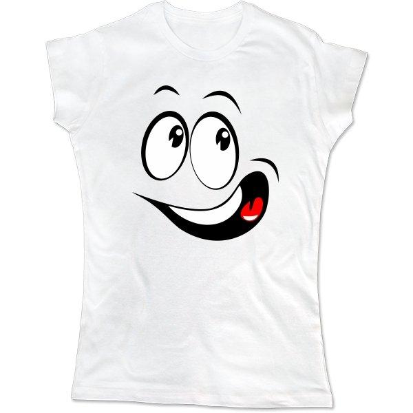 Женская футболка Смайл