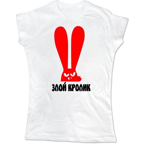 Женская футболка Злой Кролик