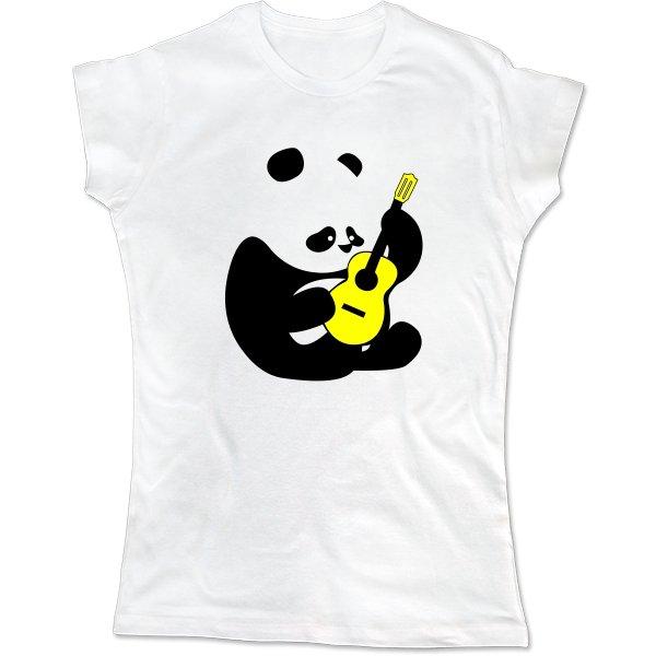 Женская футболка Панда с Гитарой