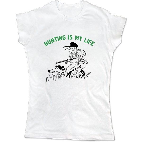 Женская футболка Охота моя жизнь