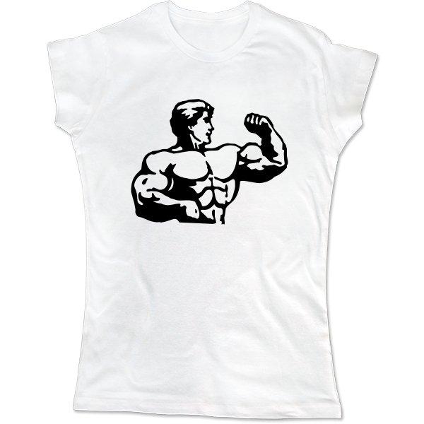 Женская футболка Бицепс