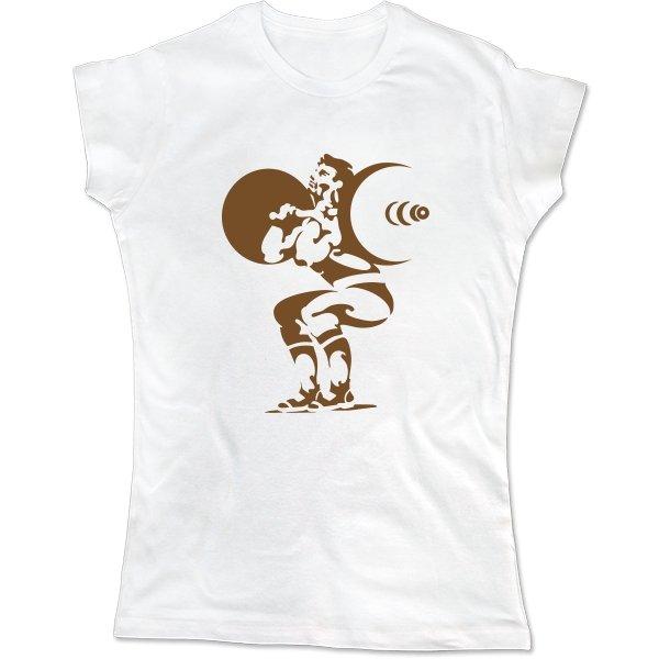 Женская футболка Подъем штанги