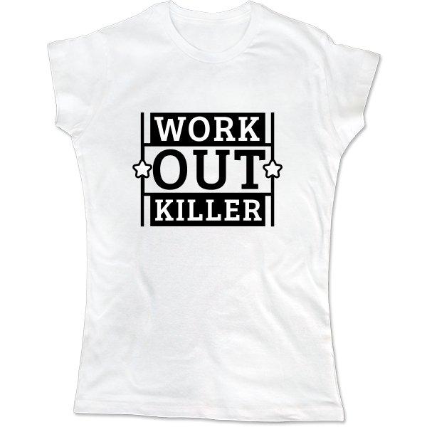 Женская футболка Work Out Killer