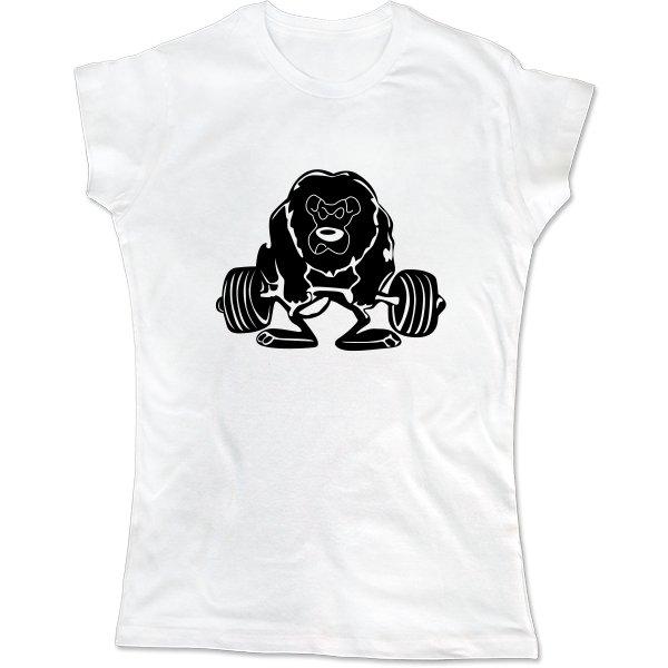 Женская футболка Лев Силач