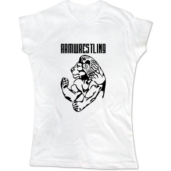 Женская футболка Армрестлинг