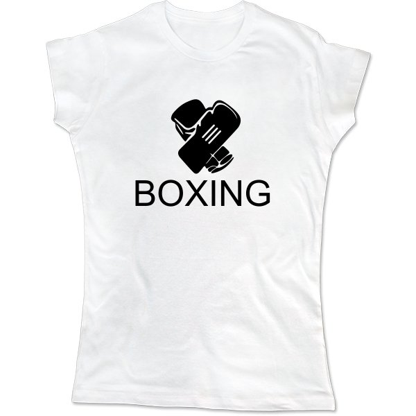 Женская футболка Бокс