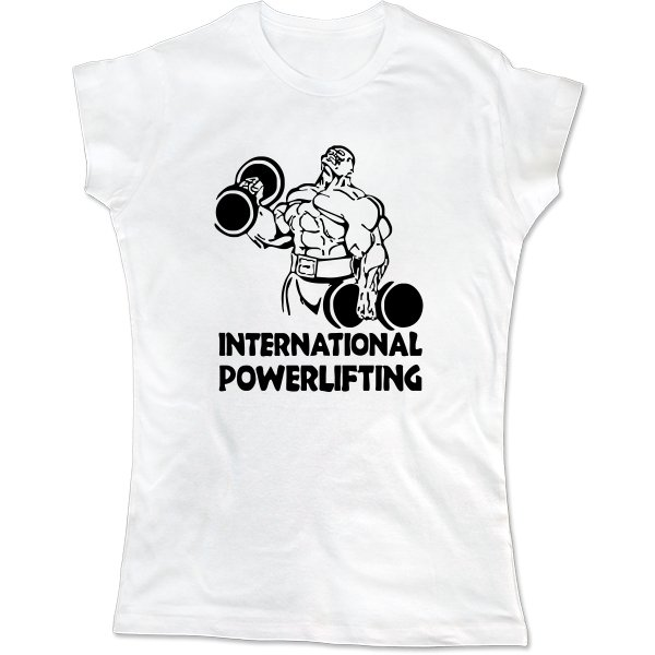 Женская футболка International Powerlifting