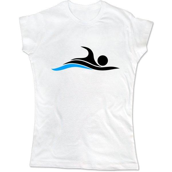 Женская футболка Плавание