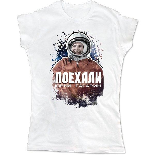 Женская футболка Гагарин - Поехали