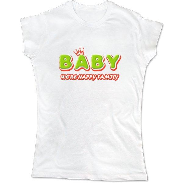 Женская футболка Ребенок счастливой семьи