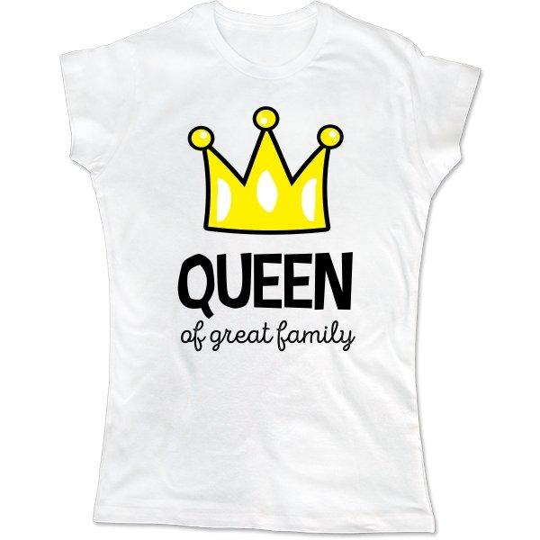 Женская футболка Королева большой семьи