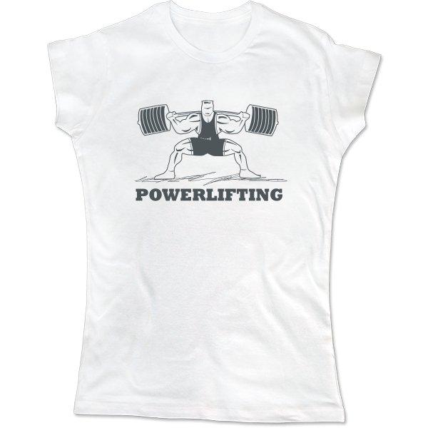 Женская футболка Powerlifting Стойка