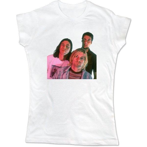 Женская футболка Nirvana фото