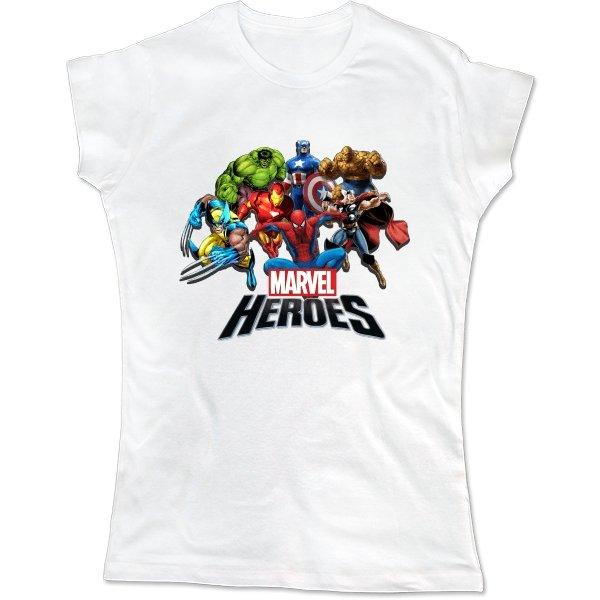 Женская футболка Герои Marvel