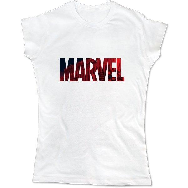 Женская футболка Marvel logo