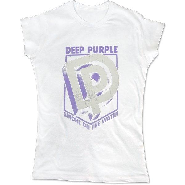 Женская футболка Deep Purple лого 3D