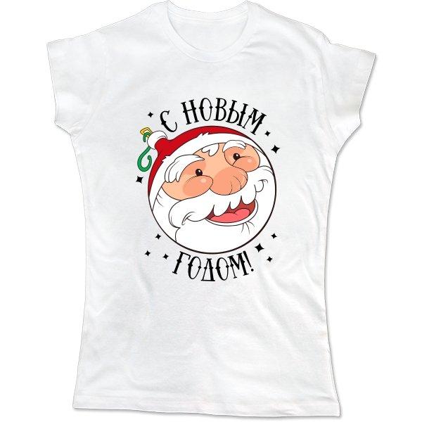 Женская футболка Новогодний Шар