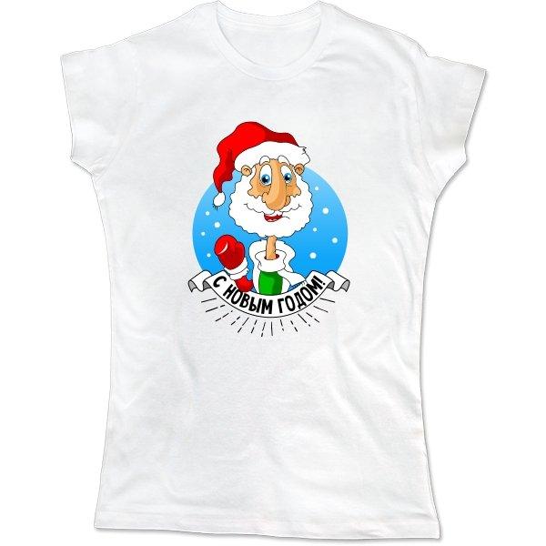 Женская футболка Дедушка мороз