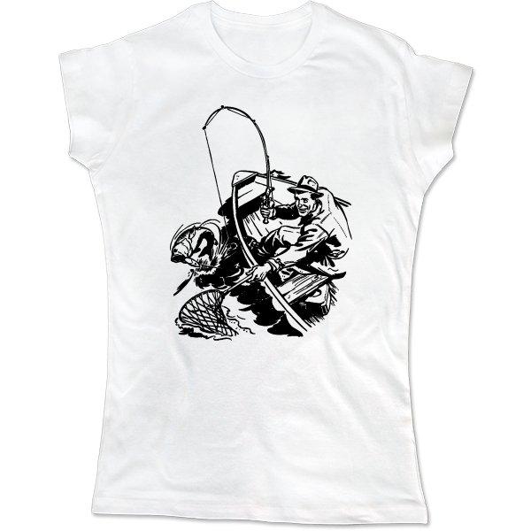 Женская футболка Борьба с хищником