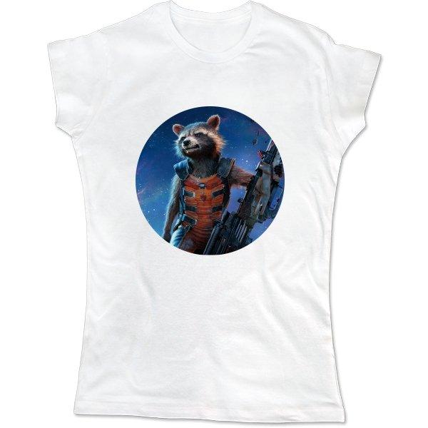 Женская футболка Енот Марвел