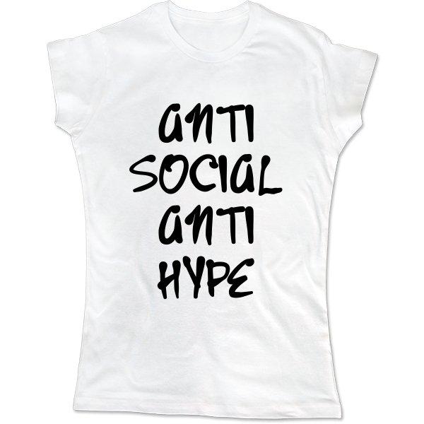 Женская футболка Anti Social Anti Hype