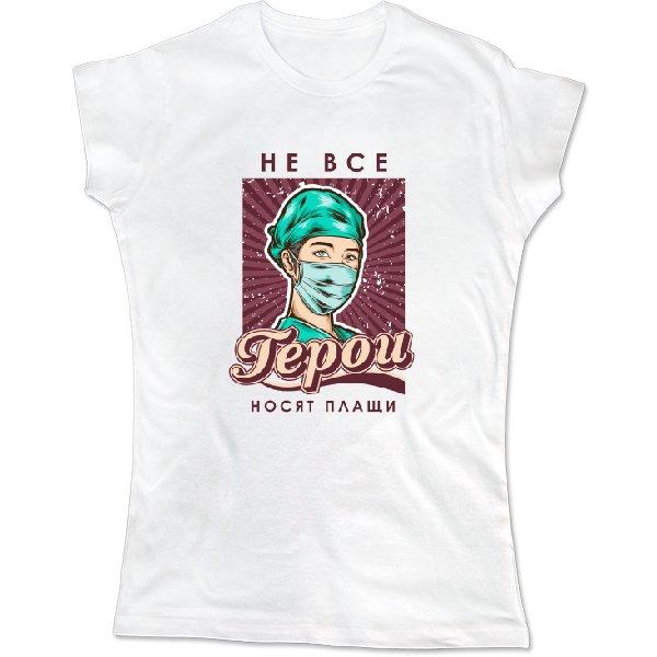 Женская футболка для врача героя