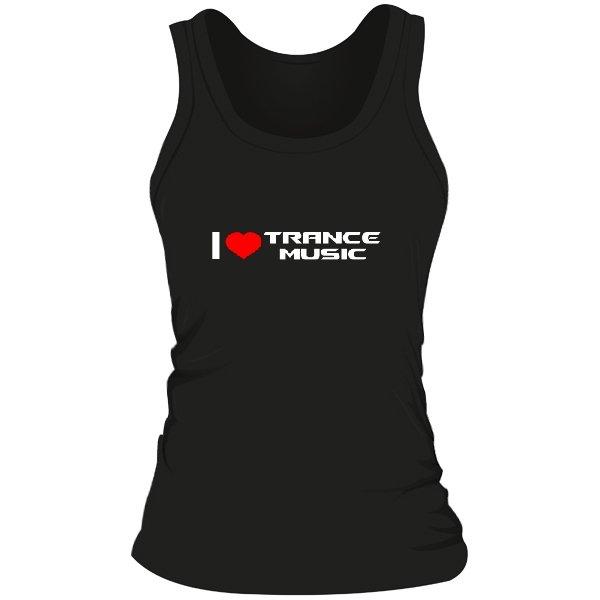 Женская майка I Love Trance Music