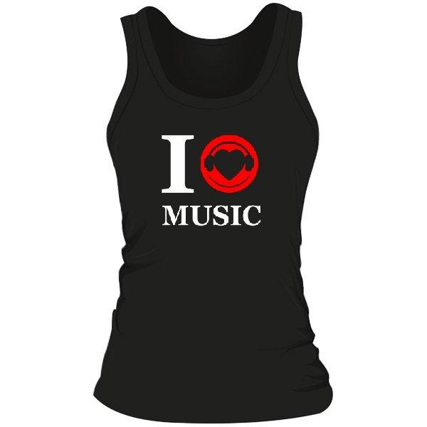 Женская майка Я люблю Музыку