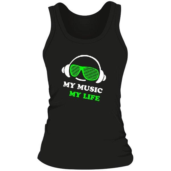 Женская майка Моя Музыка - Моя Жизнь