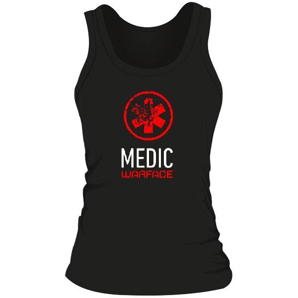 Женская майка Warface Медик
