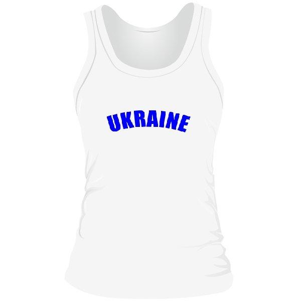 Женская майка Надпись Ukraine
