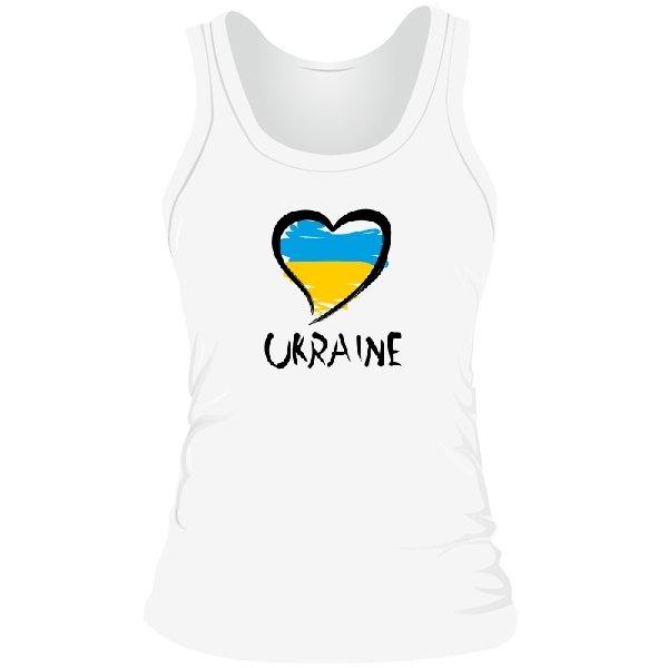 Женская майка Сердце Ukraine