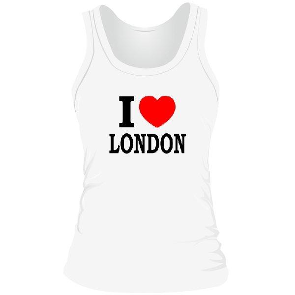 Женская майка Я люблю Лондон