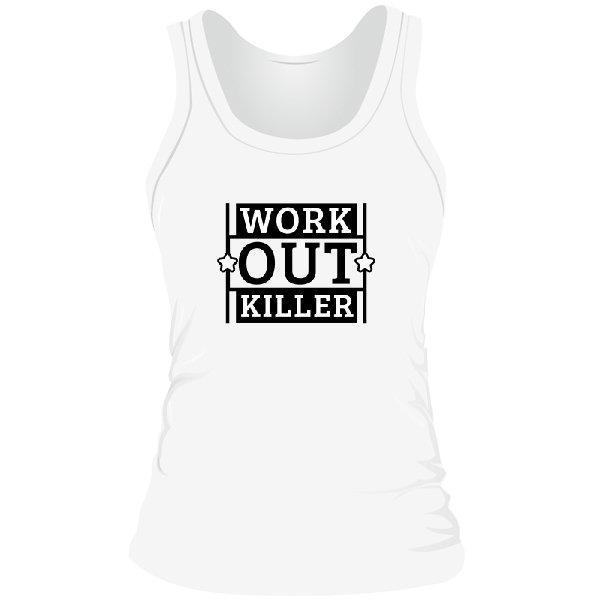 Женская майка Work Out Killer