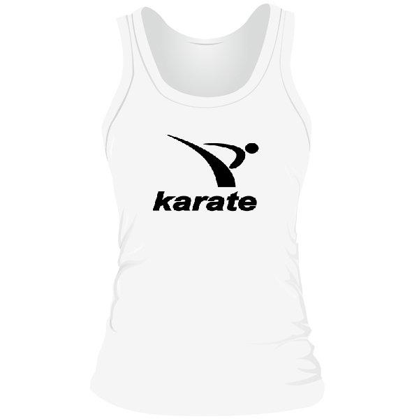 Женская майка Karate лого