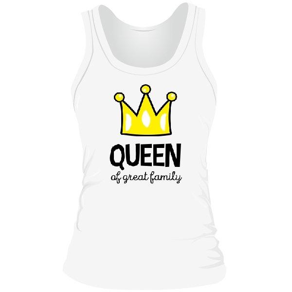 Женская майка Королева большой семьи