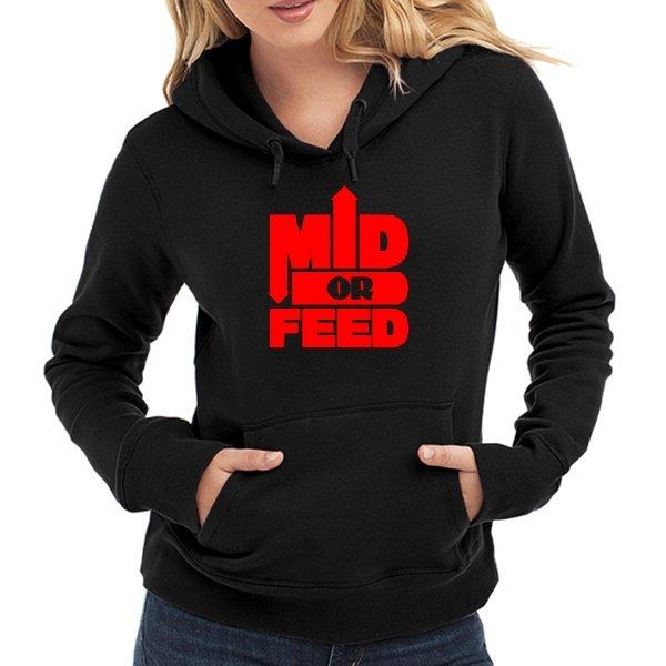 Женская толстовка Mid or Feed