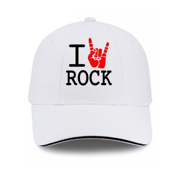 Кепка с надписью люблю Rock