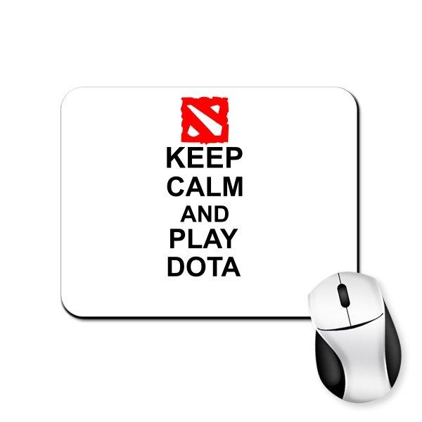 Коврик для мыши Keep Calm and Play Dota