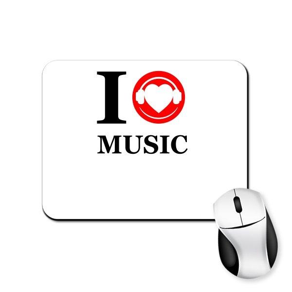 Коврик для мыши Я люблю Музыку